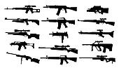 Weapons. Set of rifles