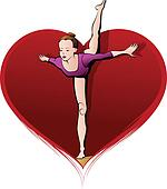 Beam Gymnast in Heart