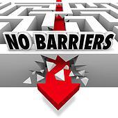 No Barriers Arrow Smashes Through Maze Walls Freedom