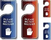 vector do not disturb door hangers