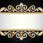 gold jewelry frame