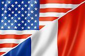 USA and France flag
