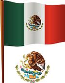united mexican states wavy flag