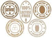 Set of stamps of allergy product