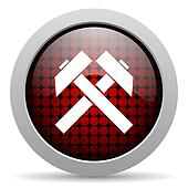 mining glossy icon