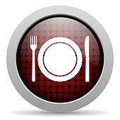restaurant glossy icon