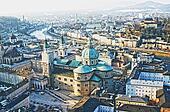 Aerial view of Salzburg, Austria