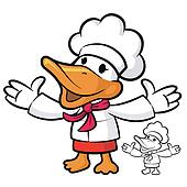 The Chef Duck mascot has been welcomed with both hands. Bird Cha