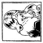 erotic pin-up girl portrait