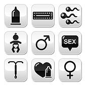 Contraception methods, sex buttons