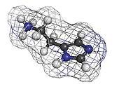 Histamine neurotransmitter, molecular model