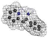 Lanicemine experimental antidepressant, molecular model