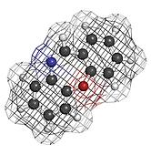 Dibenzoxazepine (CR) tear gas molecule. CR gas is used as a riot