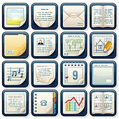 Icons with Paper Documents. Business Design
