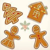 Gingerbread Cookie Illustration