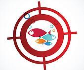 Hunter fish logo Abstract Backgroun