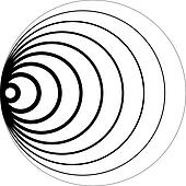 Concentric circles 3D perspective sugestion background