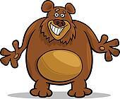 brown bear cartoon illustration