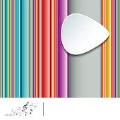 Striped colorful music background