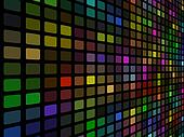 3D disco colored mosaic wall vector background.