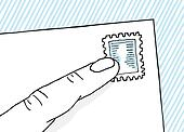 Old school mail stamp
