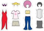 Makeover / Exchangeable looks or Costume partty