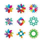 colored flower icons