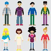Fashion Pixel People