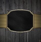 Gold Pattern on a black plate on a