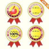 Label stitch guarantee tag  - Vector illustration - EPS10