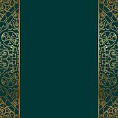 turquoise & gold ornate border