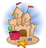 Clip Art Sandcastle Clipart sand castle clip art royalty free gograph beach cartoon