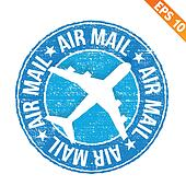 Stamp sticker Air mail collection  - Vector illustration - EPS10