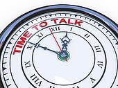 3d clock - time to talk