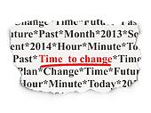 Time concept: Time to Change on Paper background