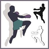 Flying knee of muay thai