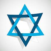 star of David made of paper cut out