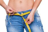 woman with measuring tape before the next diet