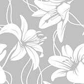 Vector lily seamless pattern