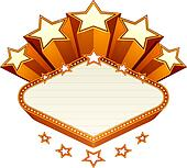 Vegas emblem, vector