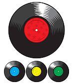 Vector vinyl record set