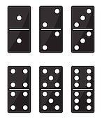 Domino black set