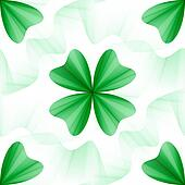 Seamless tileable background for wallpapers, four-leaf clover pattern