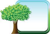 A big green tree beside an empty template