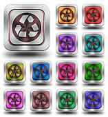 Recycle aluminum glossy icons, crazy colors
