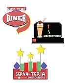 vintage outdoor diner signs