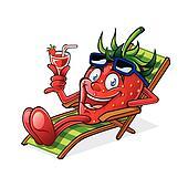 Berry on Beach Chair
