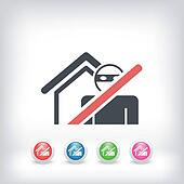 Thief security icon