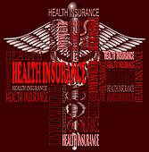 Health insurance and medical symbol