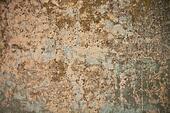 Grunge wall with mortar and graffiti